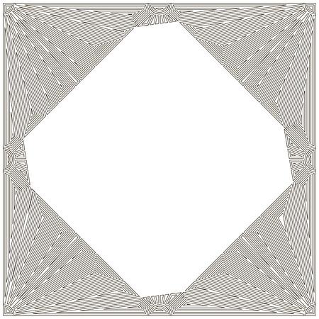 refine: Decorative art nouveau frame against white background