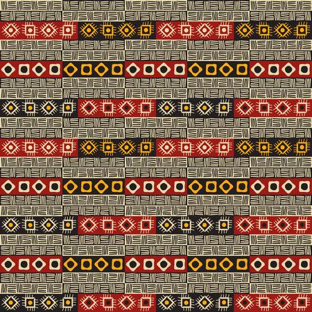 Tribal Colorful seamless tile texture Illustration