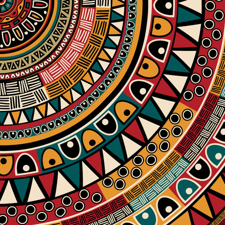Tribal ethnic background, abstract art Vector