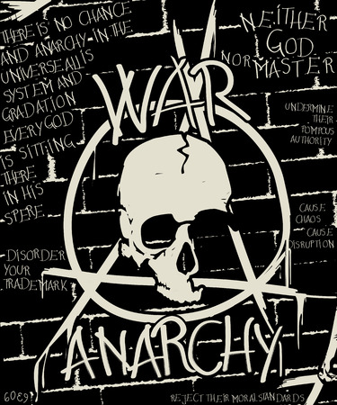 anarchy: War and anarchy poster, abstract grunge background