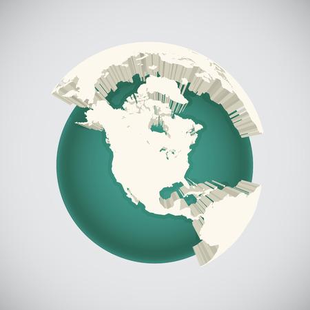 World globe illustration, abstract art Vector
