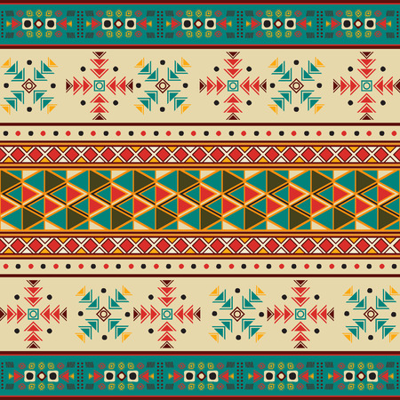 Seamless tile with navaho pattern Vector