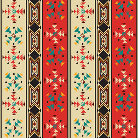 Seamless background pattern with navahostyle motif Vector
