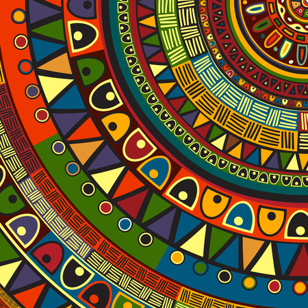 Colored tribal design, abstract art Illustration
