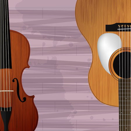 violin: Guitar and violin, abstract musical background