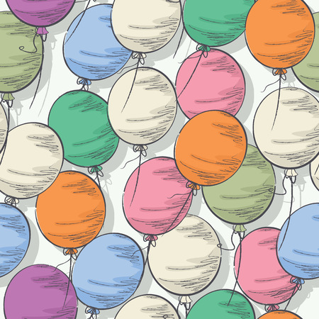 Seamless colorful balloon seamless pattern Vector
