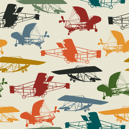creative force: Vintage planes seamless pattern design