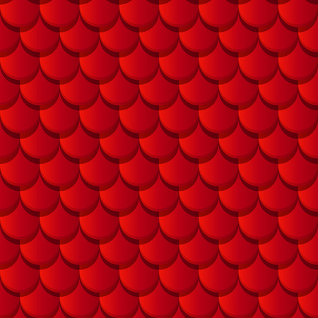 roof shingles: Red clay roof tiles seamless pattern
