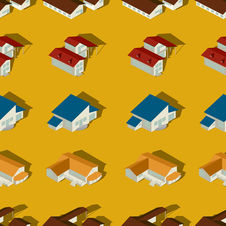 suburbia: Seamless pattern design of a suburban city
