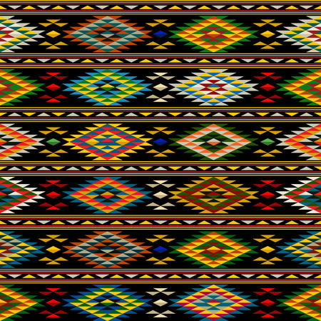 american culture: American Indian seamless pattern design in colors