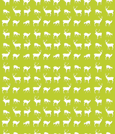 Seamless repeating pattern design with deer silhouettes Vector