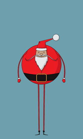 Fat and jovial Santa character Ilustrace