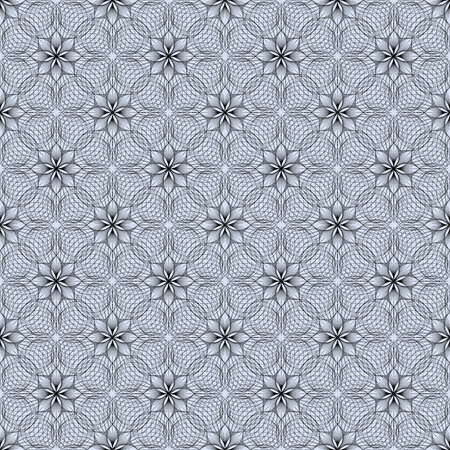Seamless pattern with Arabic floral motif Illustration