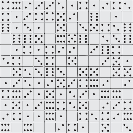unstable: Seamless domino pieces pattern for design