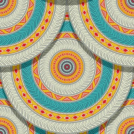 Tribal ethnic geometric seamless pattern design Illustration