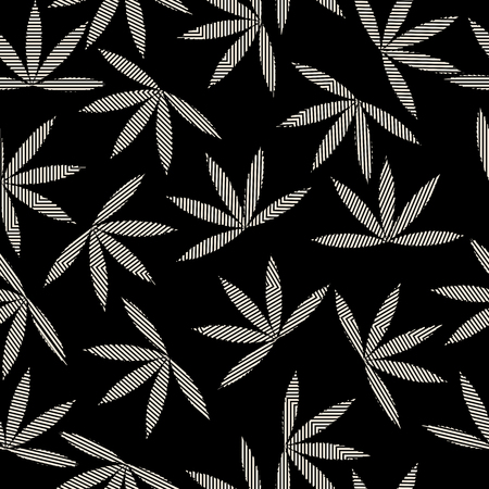 Happy leaves seamless pattern design