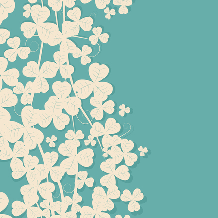 patrick: Retro style clover card with copy space