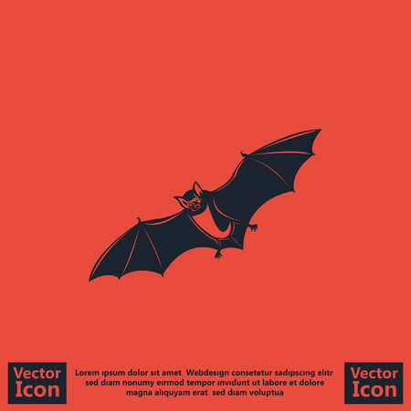Flat style icon with bat symbol
