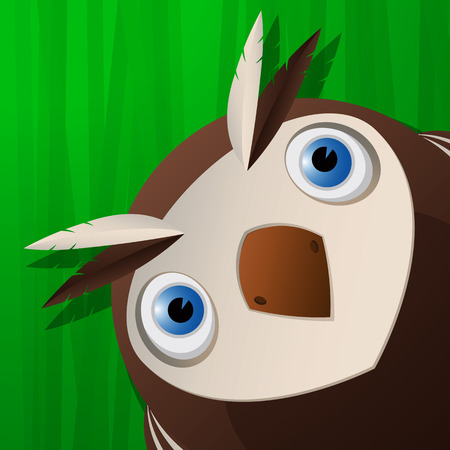 Funny owl small icon for web