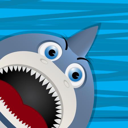 human face: Funny shark avatar icon for web