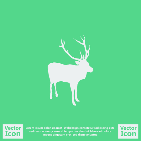 Flat style icon with deer symbol
