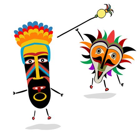 Ancient shaman characters