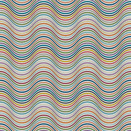 casing: Wavy stries seamless pattern, doodle cartoon Illustration