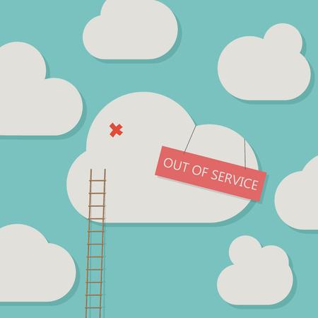 Broken cloud service