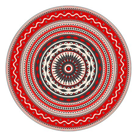 Traditional Romanian round decorative element, vector template Иллюстрация