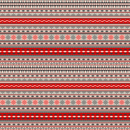 Seamless pattern design inspired by Romanian traditional embroidery Illustration
