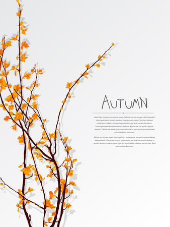Autumn tree composition with copy space Illustration