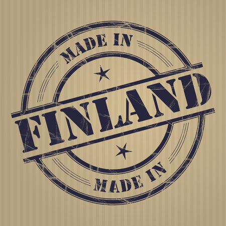 made in finland: Made in Finland grunge rubber stamp