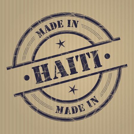 produced: Made in Guatemala grunge rubber stamp