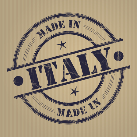 Made in Italy grunge rubber stamp