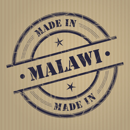 produced: Made in Madagascar grunge rubber stamp