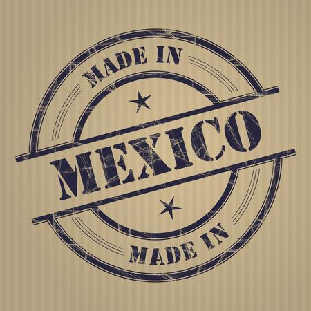 メキシコ グランジ ゴム印で作った  イラスト・ベクター素材