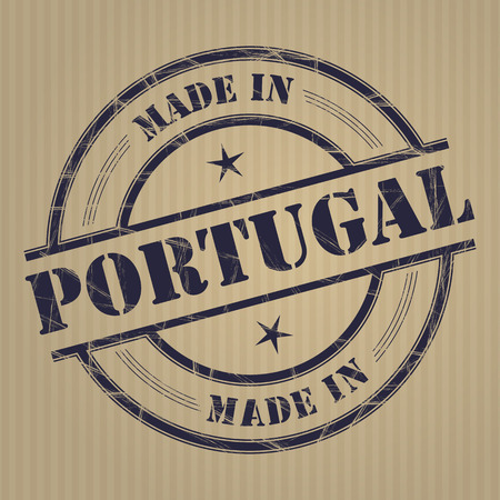 produced: Made in Portugal grunge rubber stamp