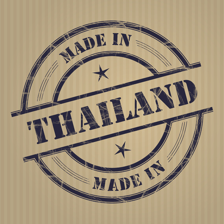 produced: Made in Thailand grunge rubber stamp