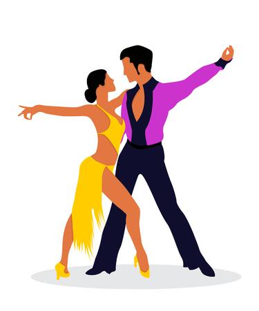 Die Salsa-Tänzer Standard-Bild - 78496214