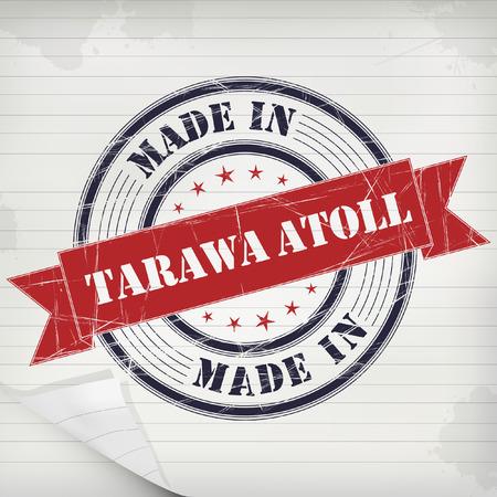 Made in Tarawa Atoll vector rubber stamp on grunge paper Ilustração