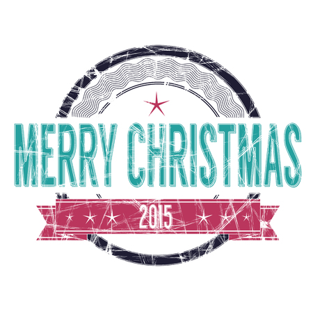 old items: Isolated Merry Christmas vectorgrunge rubber stamp in colors