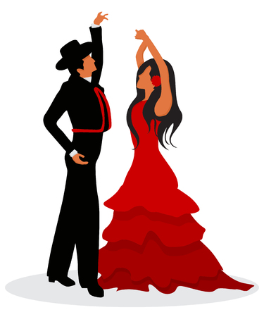 The Flamenco dancers Stock Vector - 78491530