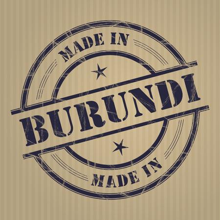 produced: Made in Burundi grunge rubber stamp