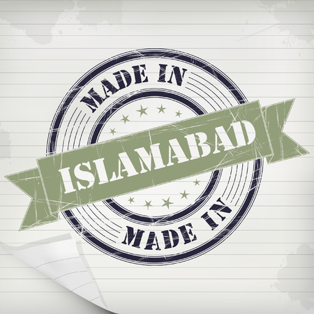islamabad: Made in Islamabad vector rubber stamp on grunge paper Illustration