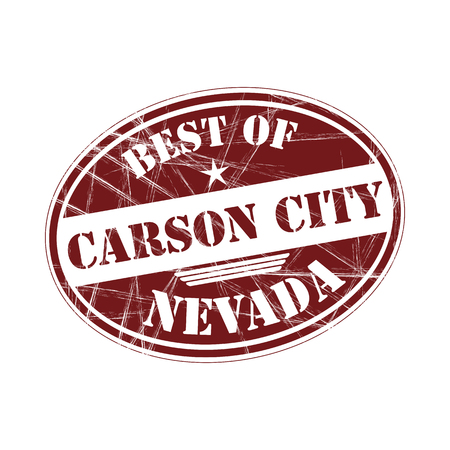 carson city: Best of   Carson City grunge rubber stamp against white background