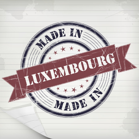 greet: Made in Luxembourg vector rubber stamp on grunge paper Illustration