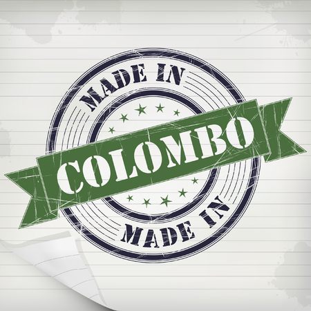 colombo: Made in Colombo vector rubber stamp on grunge paper Illustration