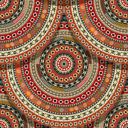red rug: Aztec seamless pattern  for design