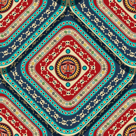 Seamless pattern design with aztec motif