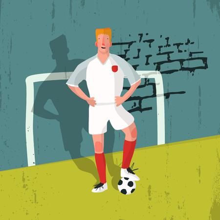 ballplayer: Illustration of a football player